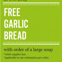 Marché Mövenpick: Free Garlic Bread with Order of A Large Soup