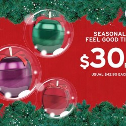 The Body Shop: Seasonal Feel Good Tins @$30 each