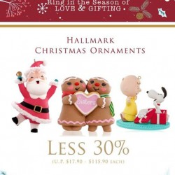Precious Thots: Less 30% Hallmark Christmas Ornaments