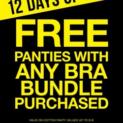 La Senza:Free Panties w/ Any Bra Bundle Purchased