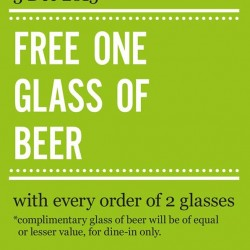 Marché Mövenpick: Free One Glass of Beer