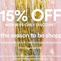 MDSCollections: Last minute Christmas @15% OFF for members Only