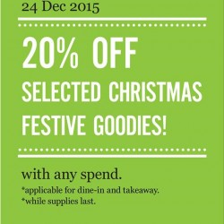 Marché Mövenpick: 20% OFF Selected Christmas Festive Goodies