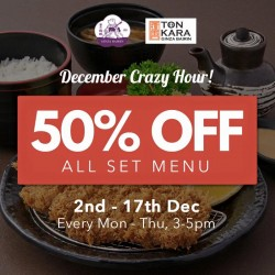 Ginza Bairin: December For Crazy Hour @ 50% OFF All Set Menu
