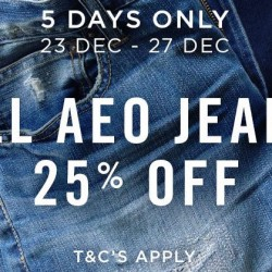 American Eagle Outfitters: 25% OFF All AEO Jeans