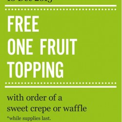 Marché Mövenpick: Free One Fruit Topping