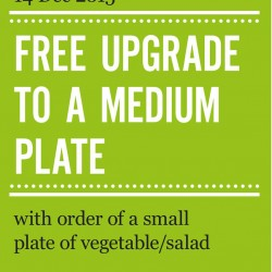 Marché Mövenpick: Free Upgrade To a Medium Plate