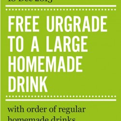 Marché Mövenpick: Free Upgrade to Large Homemade Drink with Regular Glass.