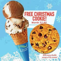 New Zealand Natural: Free Christmas Cookie Worth at $2.80