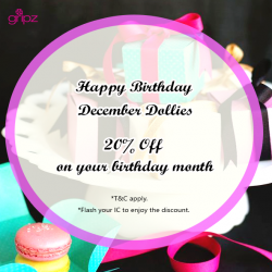 Gripz: 20% OFF on your Birthday Month
