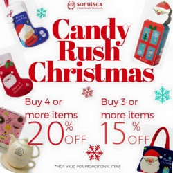 Sophisca candy and gift store: Candy Rush Christmas @Save Up To 15% - 20% OFF
