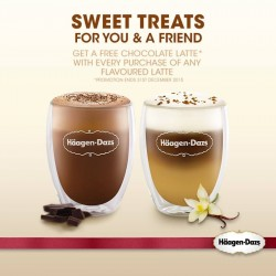 Häagen-Dazs's: Free Flavoured Latte is Limited to Chocolate Latte Only.