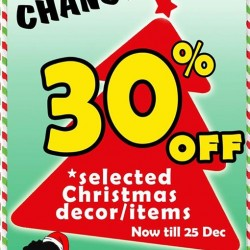 JAPAN HOME: 30% OFF Selected Christmas Decor/Items
