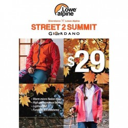 "GIORDANO: Cross-over Campaign ""Street2Summit"" Fusion Collection"