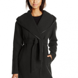 Amazon: Calvin Klein Women's Doubleface Wool Wrap Coat Via Coupon Code.