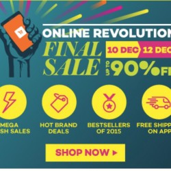 Lazada: Online Revolution Final Sale up to 90% OFF --- 12 Dec 2015