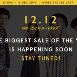 Zalora: 12.12 Online Fever up to 80% OFF + Additional 10% OFF with Mastercard