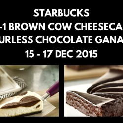 Starbucks: 1-for-1 Brown Cow Cheesecake or Flourless Chocolate Ganache