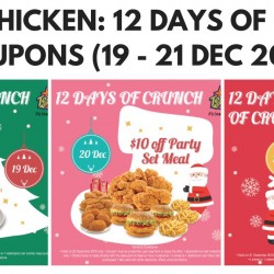Texas Chicken: 2pc Spicy Winglets for $1, $10 off Party Set Meal & more!