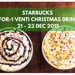Starbucks: 1-for-1 Venti-Sized Christmas Drink