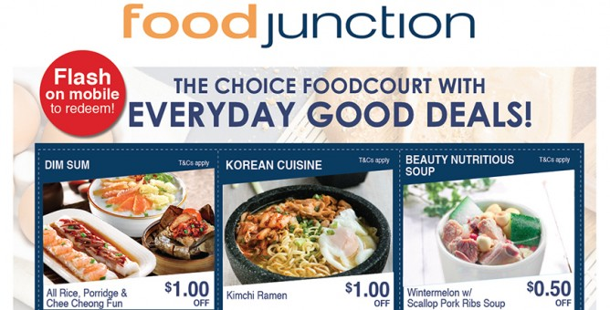 Food junction everyday good deals coupons till 29 feb 2016 bq save up to 1 everyday with food junctions everyday good deals coupons only available for redemption at food junction united square forumfinder Gallery