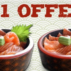 Oceans Of Seafood: 1-for-1 Salmon Chirashi