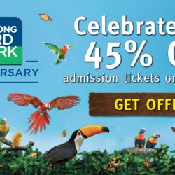 Jurong Bird Park: 45% Off Admission on 3 Jan 2016