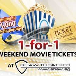 Safra: 1-for-1 Weekend Promotion at Shaw Theatres!