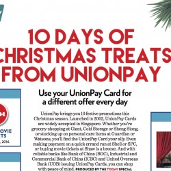 UnionPay: 1-for-1 Movie Tickets, 20% OFF and more Christmas Treats!