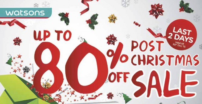 Replenish your toiletries at Watsons  Post Christmas Sale with up to 80%  off selected items! Promotions are valid till 30 December 2015. 5647cfb3331