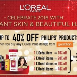 L'Oréal Paris: Up to 40% OFF Philips Products