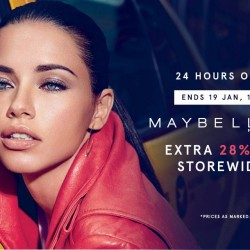 Zalora: 28% OFF Storewide on Maybelline Products!