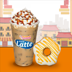 Dunkin' Donuts: Orange Blossom, a White Chocolate-Frosted Treat with Orange Drizzle
