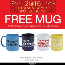 Action City: Free Urban Attitude Mug with Purchase of $100 and above