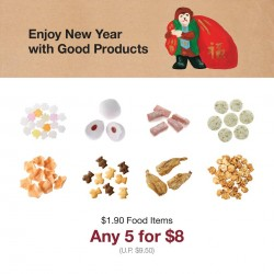 MUJI: Any 5 of the $1.90 food items for $8