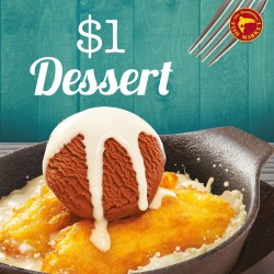 The Manhattan FISH MARKET: Sizzling Banana Fritters with Ice Cream at $1