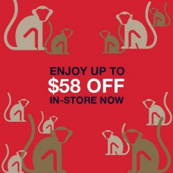 Gap: Up to $58 OFF In-Store