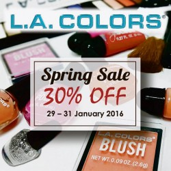 Big Box: LA Colors Spring Sale 30% OFF
