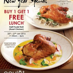 Poulét: Buy 1 Get 1 FREE Lunch Offer @Half Poulet Roti (Roast Chicken)