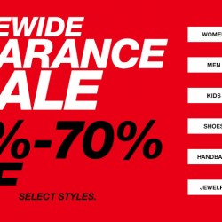 Macy's: Take 30% to 70% OFF sitewide during its Sitewide Clearance Sale.