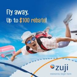 ZUJI: Fly Away Up to $100 Rebate