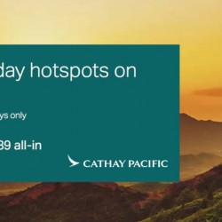 Cathay Pacific: Two-to-Travel Flash Sale - 7 days special from just S$189