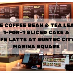The Coffee Bean & Tea Leaf: 1-for-1 Sliced Cake & Cafe Latte at Suntec City & Marina Square
