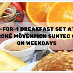 Marché Mövenpick: 1-for-1 Breakfast Set at Suntec City on Weekdays