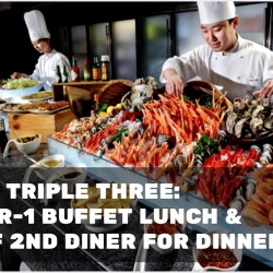 Triple Three: 1-for-1 Buffet Lunch & 50% OFF 2nd Diner for Dinner