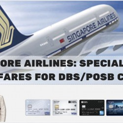 Singapore Airlines: Special Early Bird Fares from S$168 for DBS/POSB Cards