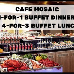 Carlton Hotel: Cafe Mosaic 1-for-1 Buffet Dinner & 4-for-3 Buffet Lunch