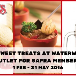 Swensens: 1-for-1 Sweet Treats at Waterway Point for Safra Members