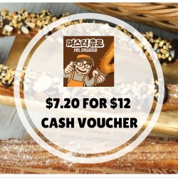 Groupon: $7.20 for $12 Cash Voucher at Mr Churro