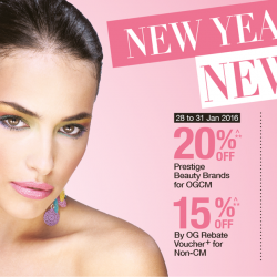 OG: 20% OFF Prestige Beauty Brands, Regular-Priced Cosmetics, Toiletries & Health Supplements